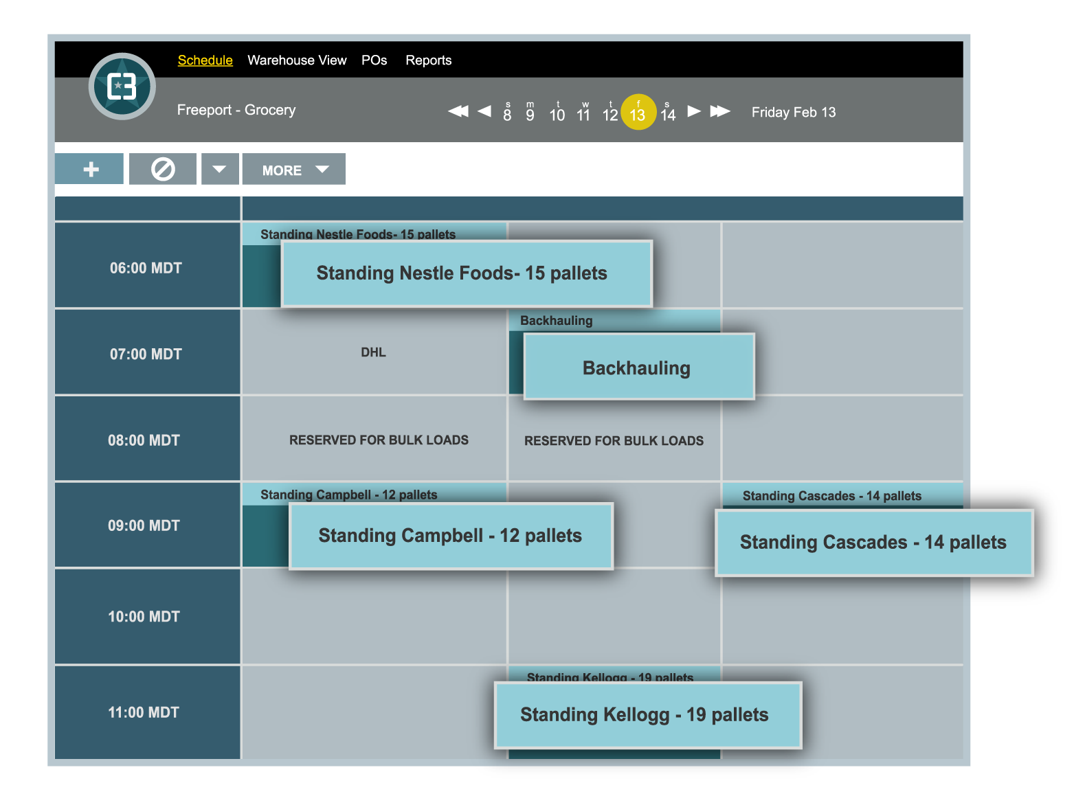 Web-based dock scheduling
